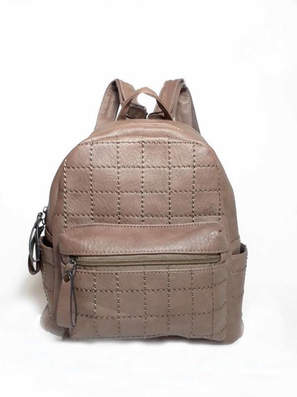 Marrom Em Bag Feminina Ticiana Couro Bolsa Ecológico1 Tipo Mochila UTStwWYB