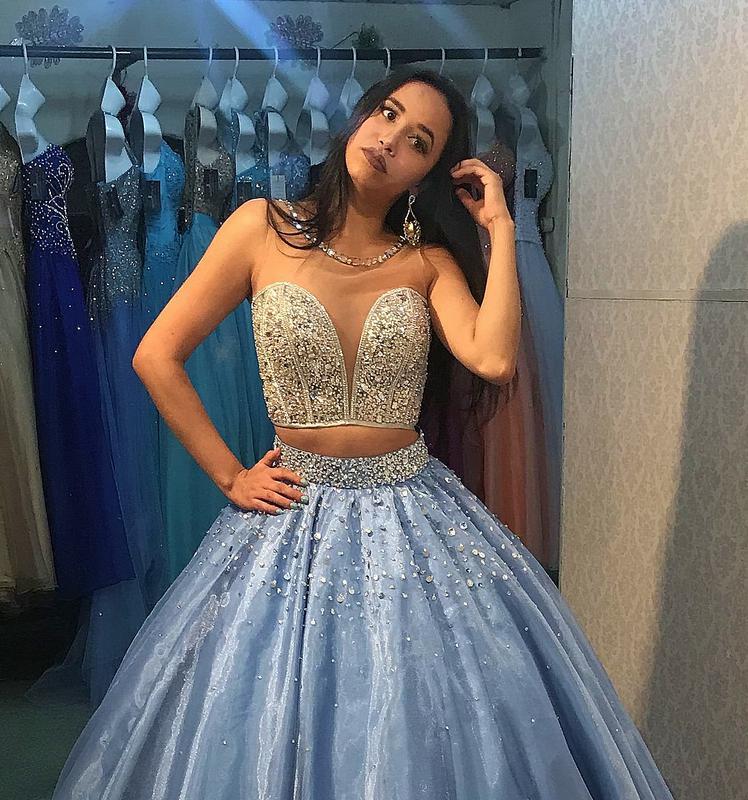 Maquiagem para debutante vestido azul