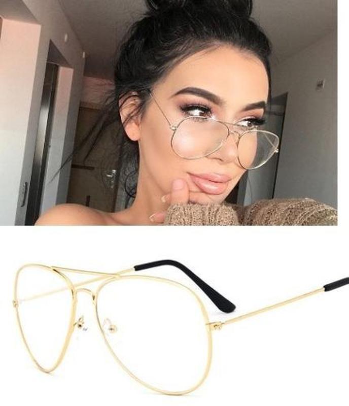 d270905410582 Armação óculos grau feminino aviador metal 3025 3026 dourado - R ...