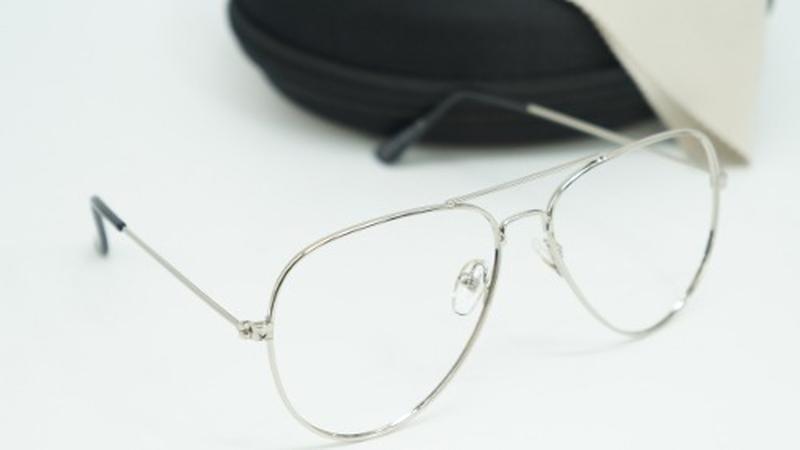 ... Armação óculos grau feminino aviador metal 3025 3026 prata2 ... f42e1bee82