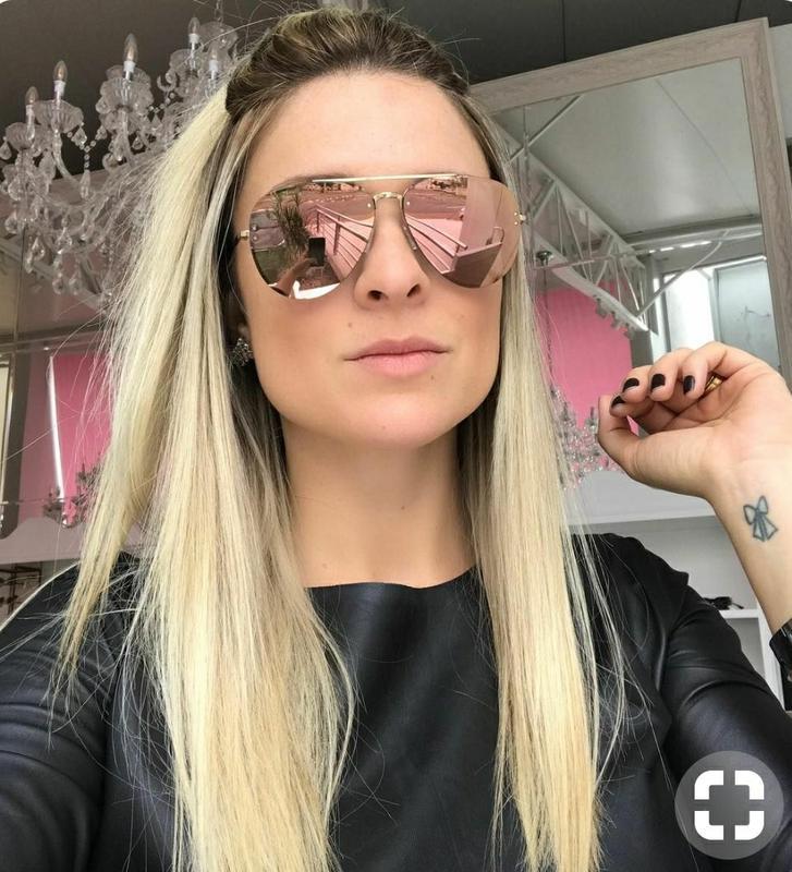 Óculos feminino de sol modelo estiloso marca famosa vintage - R ... 7117ff035a