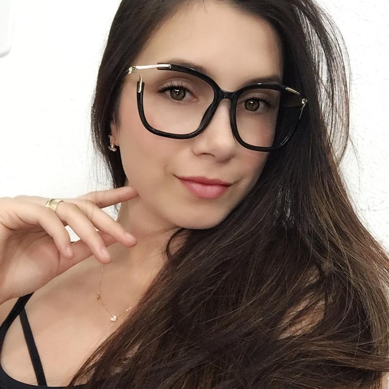 Óculos armação de grau feminino quadrad geek metal - R  149.99 ... 0fe351d422