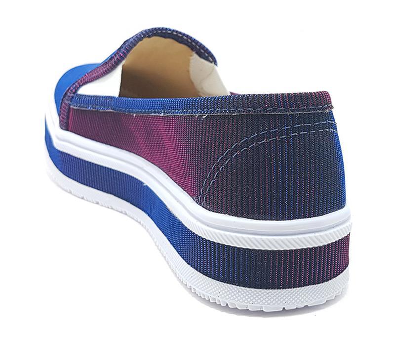 752f8216ab4 ... Tênis feminino iate flatform sobressalto holográfico roxo com azul4 ...