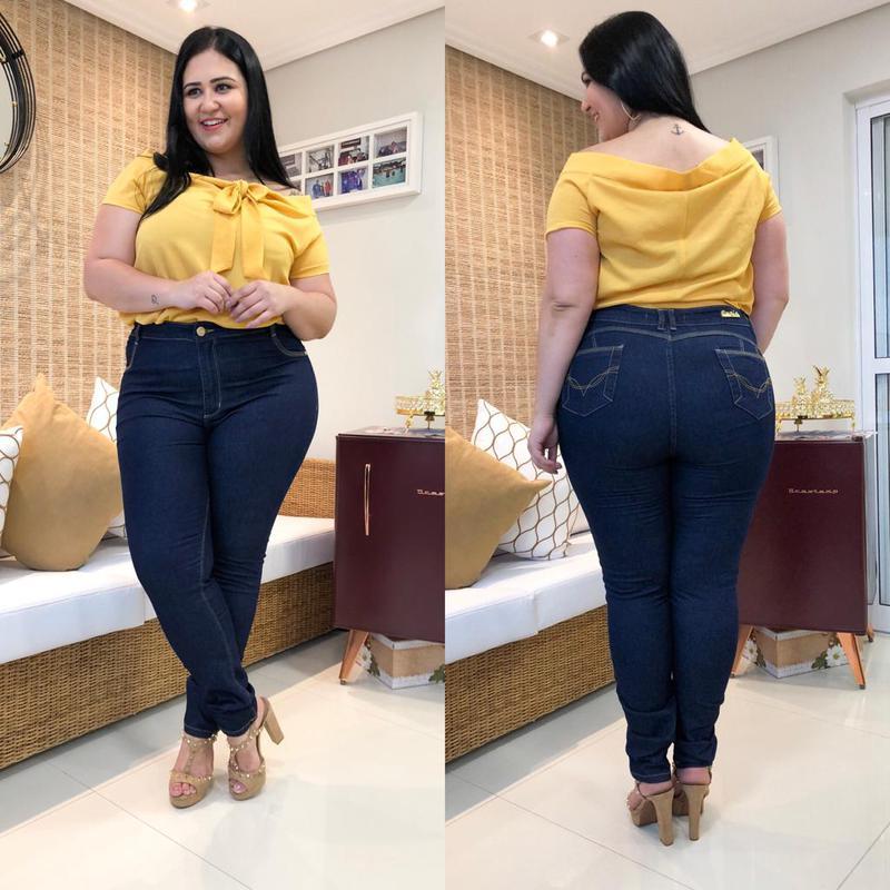 6a6140dac7 ... Calça jeans plus size feminina cintura alta lycra gordinhas2 ...