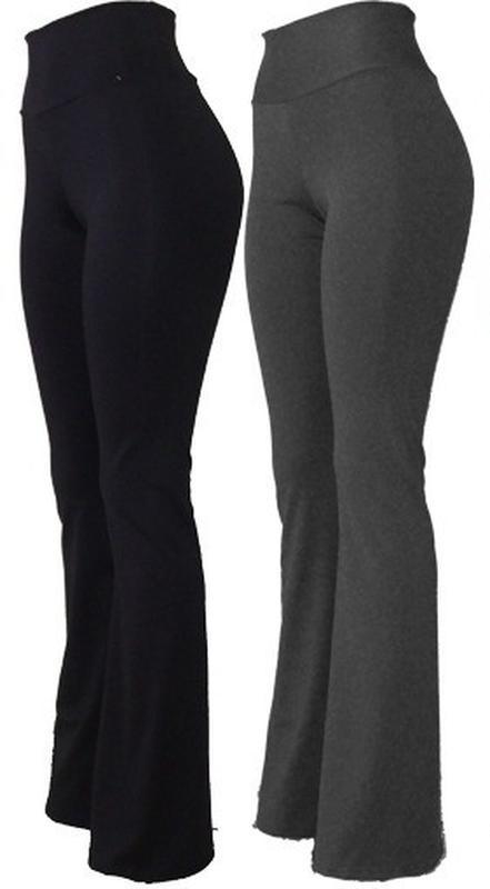 250c4dabd Kit 2 calças flare cós alto bailarina tecido grosso - R  60.00  9751 ...