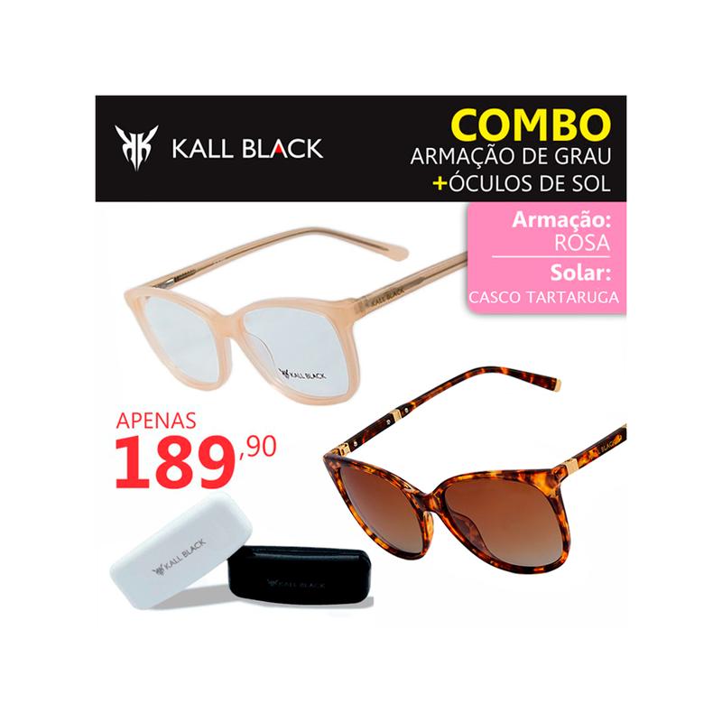 7285c90f746a0 Kit 2 em 1 compre a armação e leve um óculos solar feminino kallblack1