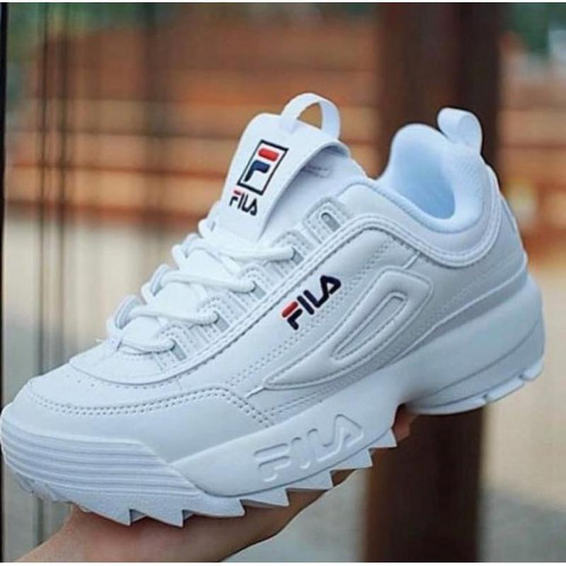 e7d64eee8df Tênis fila disruptor branco feminino - R  129.90 (esportivos
