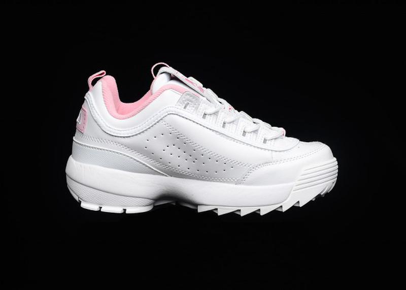 007deee57a4 Tênis fila disruptor branco feminino bordado rosa - R  99.90 ...