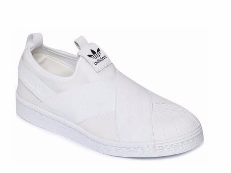 0657ff970d1 Tênis adidas slip on elástico branco - R  189.90  15081