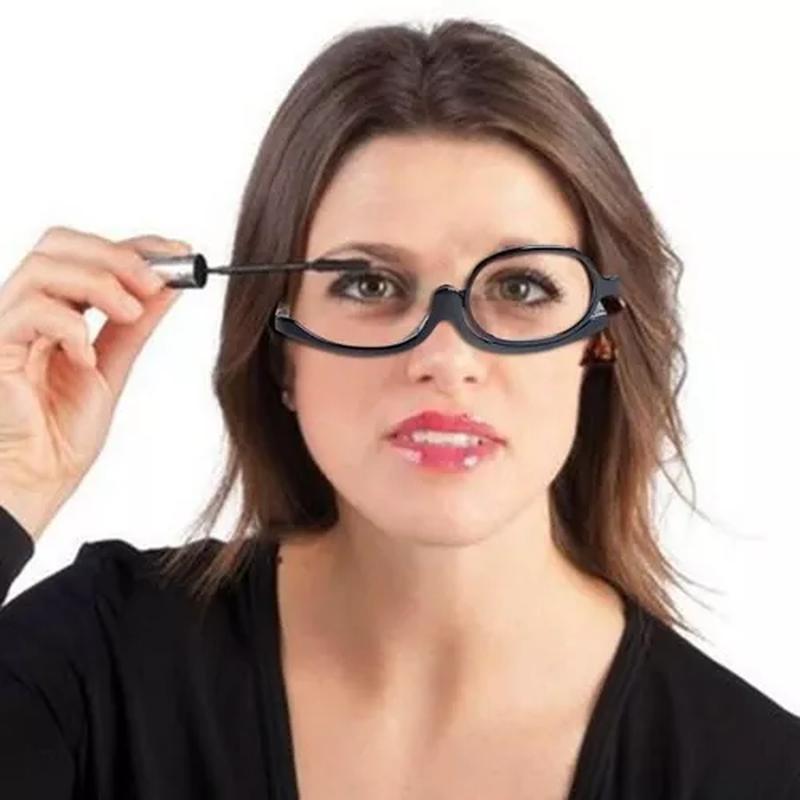 35e756ad92c33 Óculos de grau para auto maquiagem lente gira 180º promoção - R ...