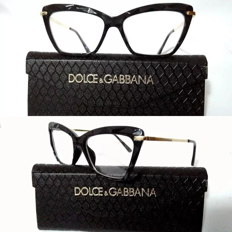 3f8eee87ea833 Armação óculos grau feminino gatinho dg2018 diamante acetato - R ...