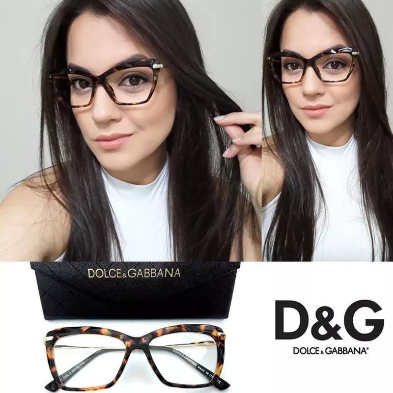 0af7c48fd3631 Armação oculos grau gatinho dg5025 diamante tartaruga - R  199.99 ...
