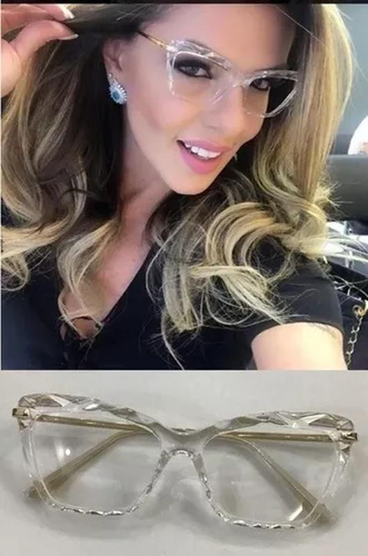 1ff3f202d3a63 Armação oculos grau feminino gatinho dg5025 transparente - R  199.99 ...