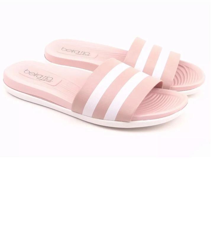 bc6a70048c Chinelo slide feminino beira rio conforto 8360.102 na cor rosa - R ...