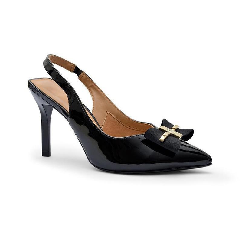 947dd77409 Sapato scarpin feminino vizzano salto alto laço preto verniz - R ...