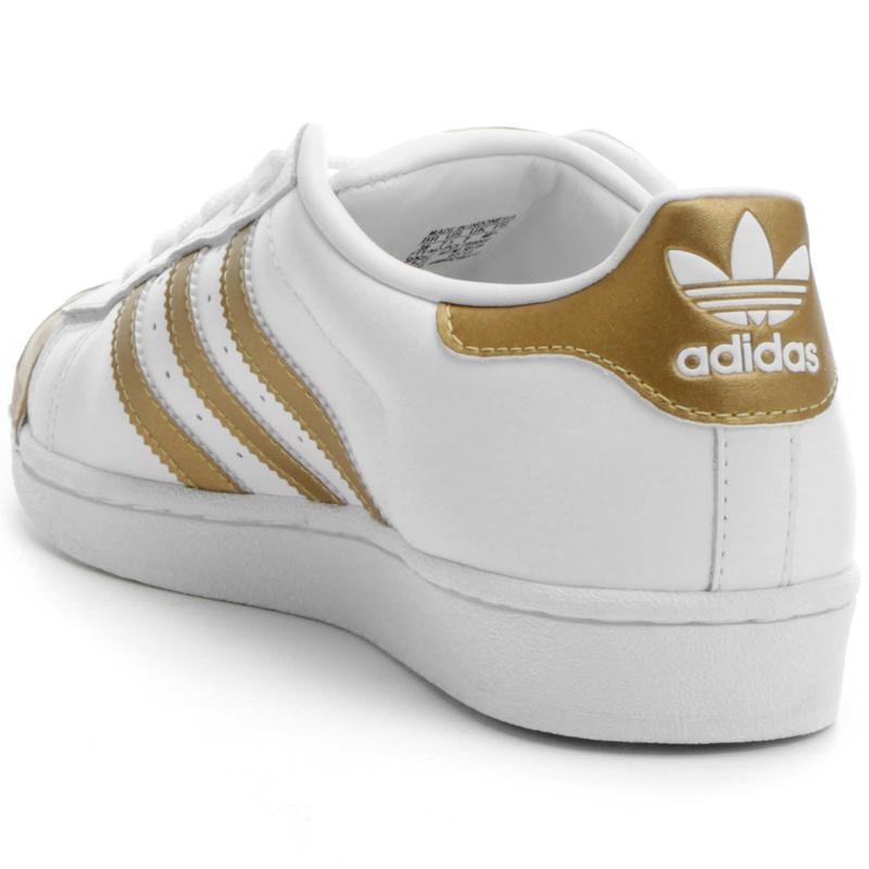 f0715d1d482 Tênis adidas superstar branco dourado1  Tênis adidas superstar branco  dourado2