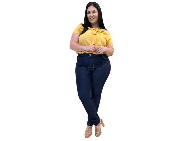 0c7cd32f88 Calça jeans plus size feminina cintura alta lycra gordinhas - R ...