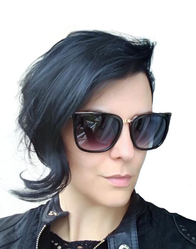 b657b919ad903 Óculos feminino de sol quadrado degrade com proteção uv400 - R ...