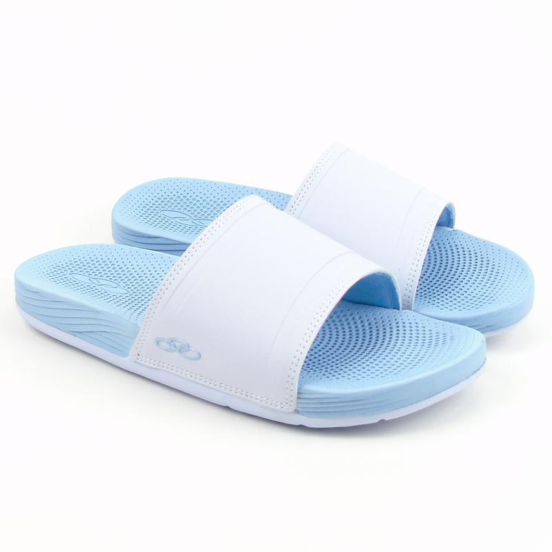 8d8c078aa7 Chinelo feminino olympikus next 483 na cor branco azul claro - R ...