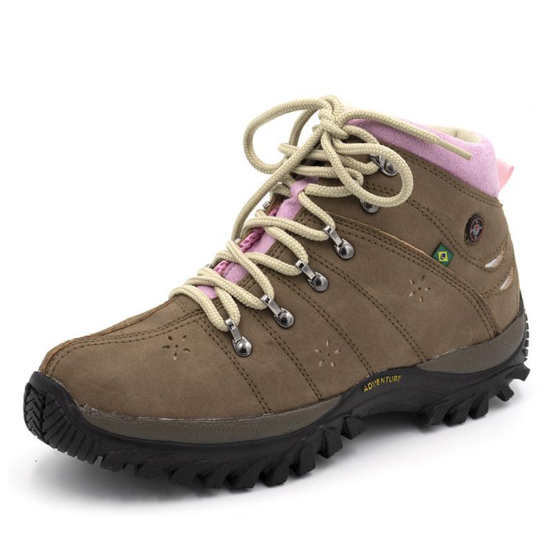 69435d015f Tênis coturno adventure feminino cano alto mocassim com rosa - R ...